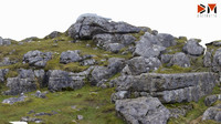 boulder pile 01 3D