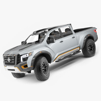 nissan titan warrior rigged 3D model