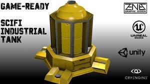 3D scifi water tank model