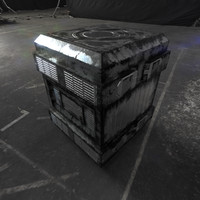3D scifi crate