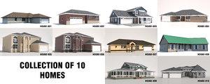 10 homes house 3D model