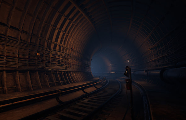 tunnel spline 3D