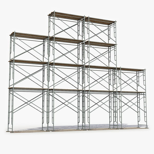 3D old scaffolding