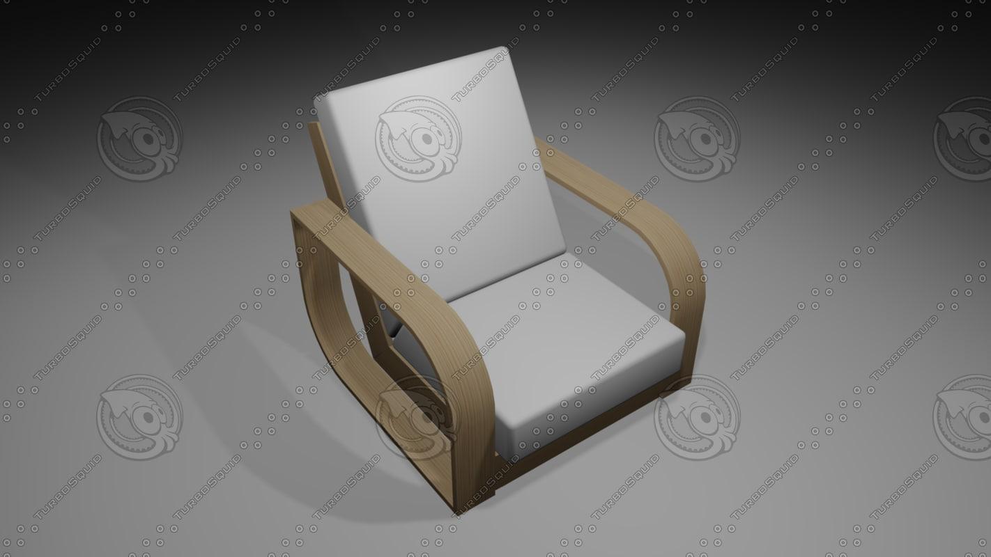 chair cushion 3D model