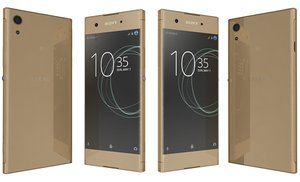 3D model sony xperia xa1 gold