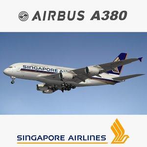 airbus singapore airlines 3D model