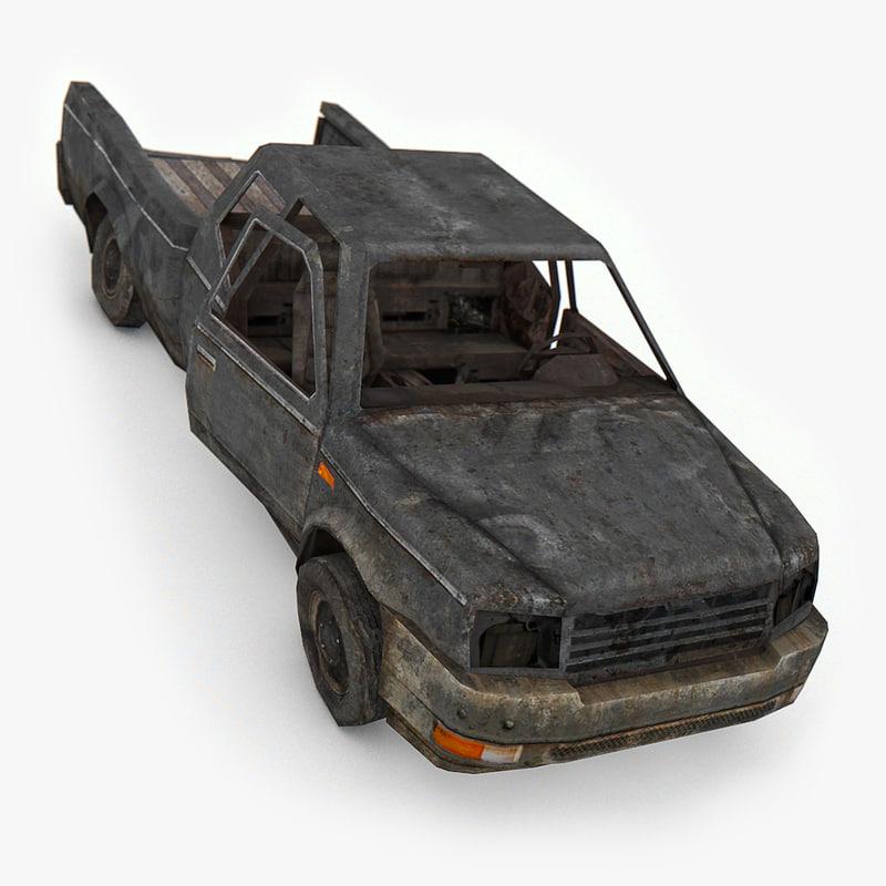 3D damaged suv