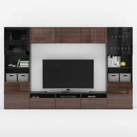 3D tv wall besta