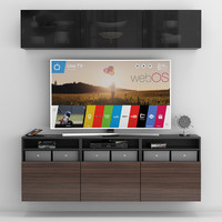tv stand ikea 3D model