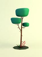 3D model wonderland tree