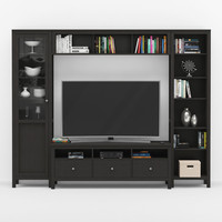 tv stand hemnes 3D model