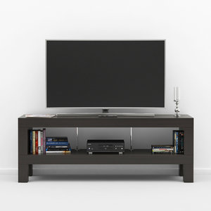 3D tv bench ikea model