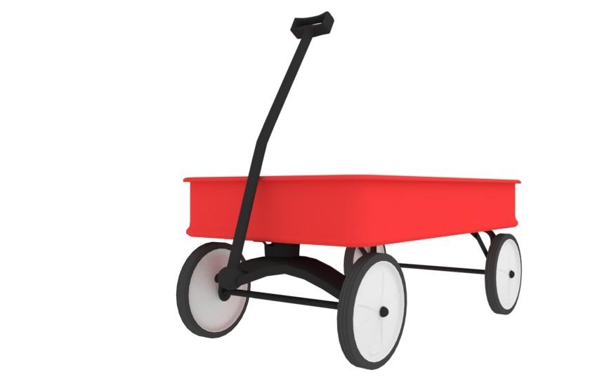 3D wagon carriage kid model