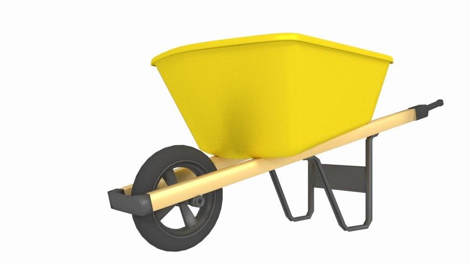 wheelbarrow tool construction 3D