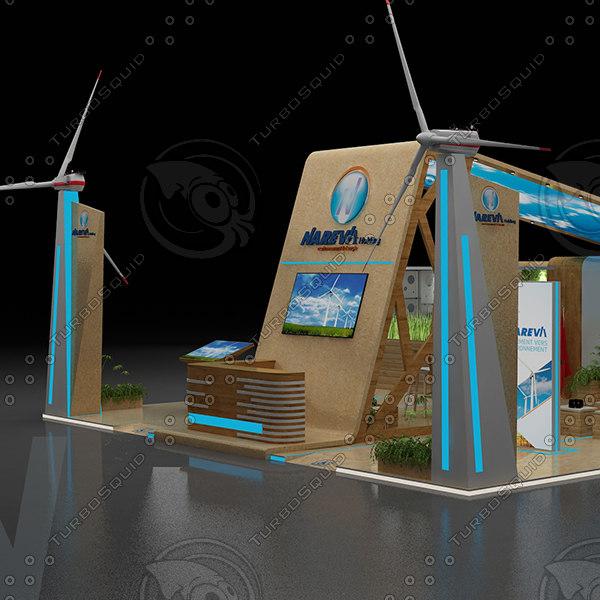 exhibition design 3D model