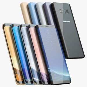 3D samsung galaxy s8 color model