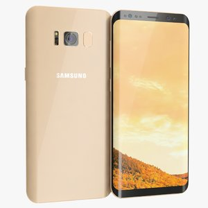 3D samsung galaxy s8 maple model