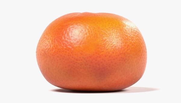 3D model tangerine