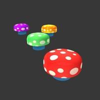 3D mushroom magic model