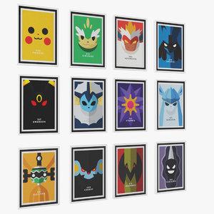 pokemon poster frame model