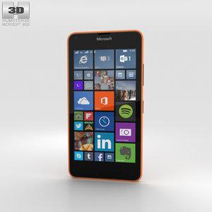 3D lumia 640 lte model