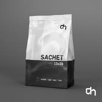 3D sachet 13x20cm 350 grams