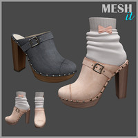 3D model heels socks