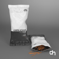 chips 125 grams 3D model