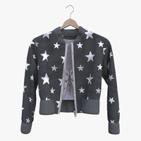 3D photoreal jacket blouse model