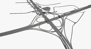 highway road junction 3D model