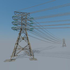 3D pylon model