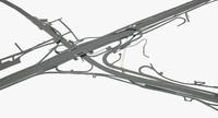 3D highway road junction