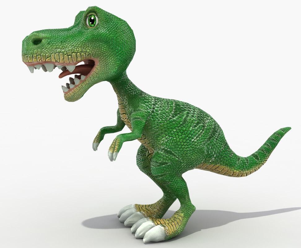cute baby dinosaur model