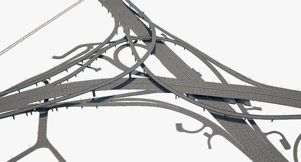 highway road junction 3D model