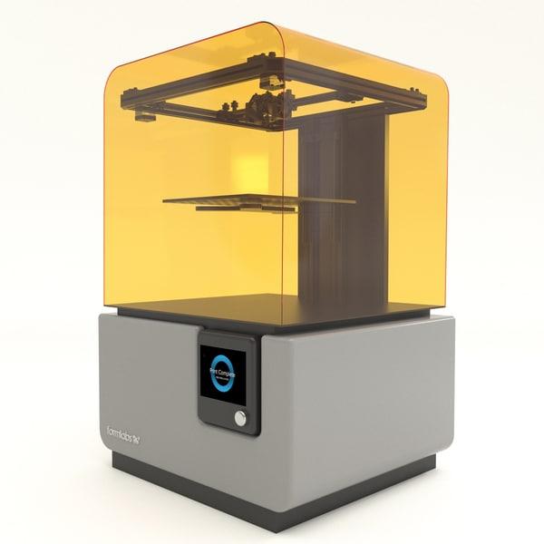 3D model formlabs ii printer