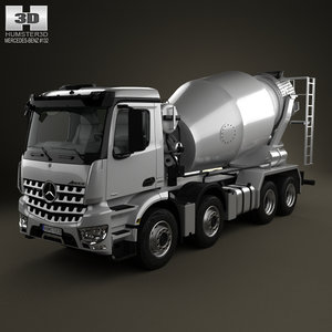 3D mercedes-benz arocs mixer