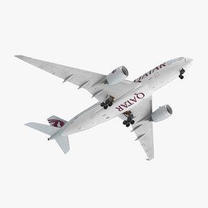 3D airbus a350-800 qatar