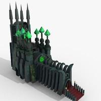 3D model necropolis emissive
