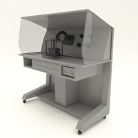 3D mini dental lab workstation table model