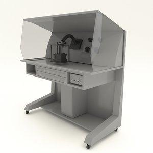 3D mini dental lab workstation table model