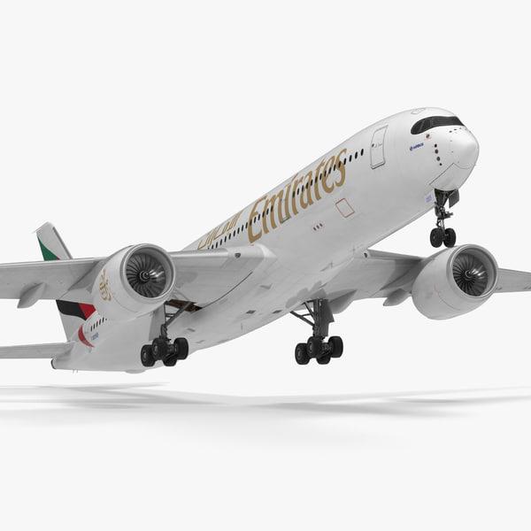 3D airbus a350-900 emirates air