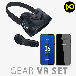 3D samsung gear vr 2017 model