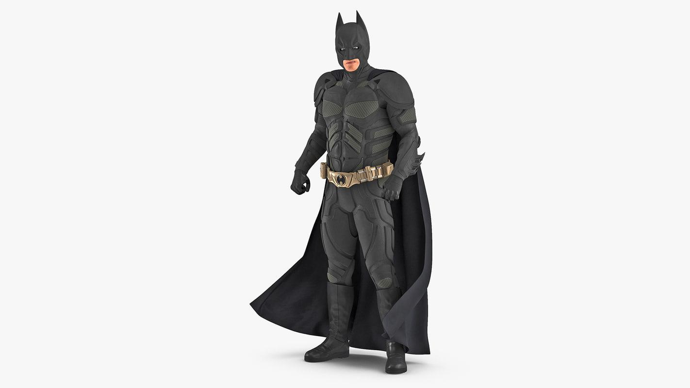 batman rigged 3D