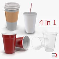 3D model disposable cups