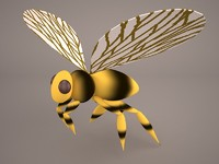 3D bee honey yellow