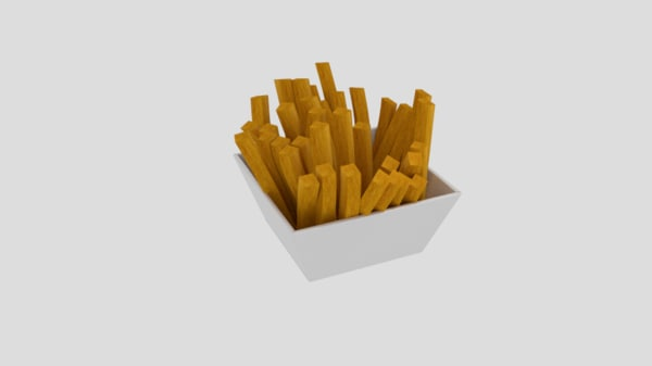 french fries 3D