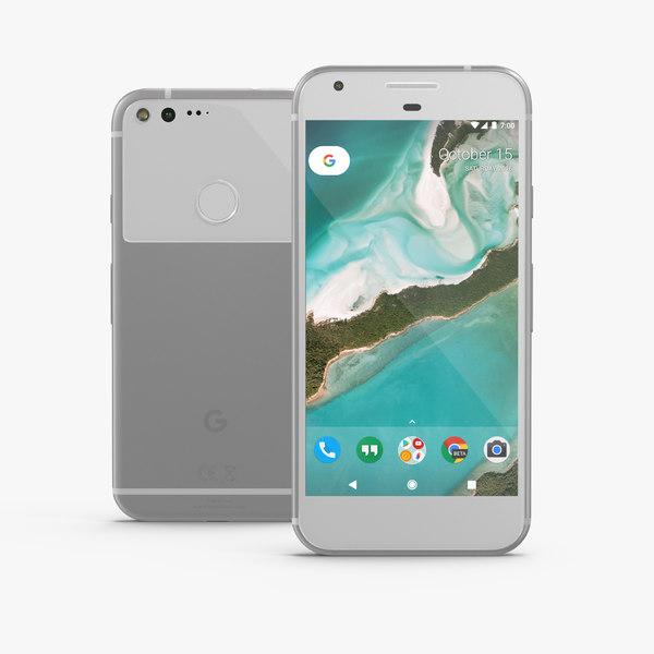 3D google pixel xl phone model