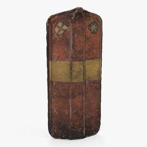 pavise italian medieval shield 3D model