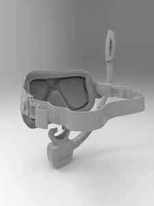 snorkel modelled 3D model