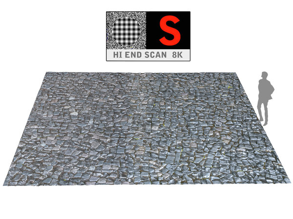 pavement wall scan 8k model